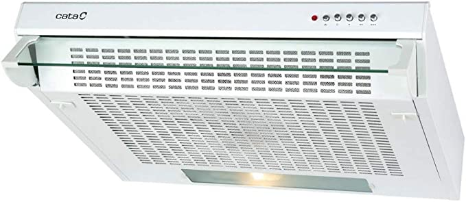 CATA F 2260 WH 300 m³/h Encastrada Blanco D - Campana (300 m³/h, Canalizado/Recirculación, E, E, D, 69 dB): Amazon.es: Grandes electrodomésticos