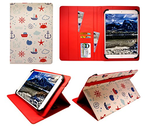 Sweet Tech Trio Pro 10.1 Inch Tablet Sailing Boat Universal Wallet Case Cover Folio (10-11 inch)