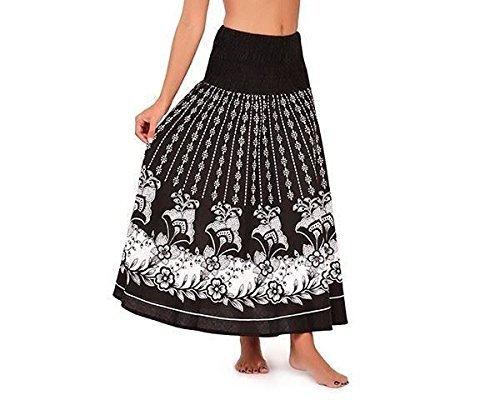 Vestido Veraniego de Dama 2 en 1 de algodón Pistachio Negro Flor
