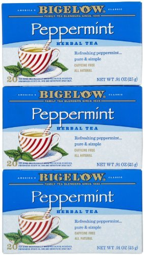 Bigelow Tea, 20 Bags - Purely Peppermint (3 Pack) Size: 3 Pack FlavorName: Purely Peppermint Model: (Home & Kitchen)