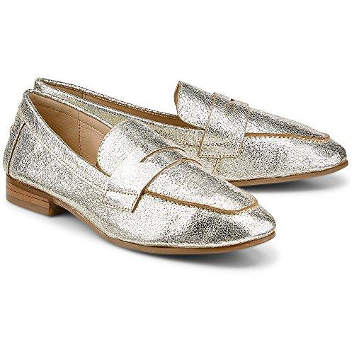 Cox Damen Metallic-Loafer Gold