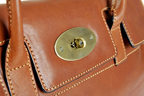 Leather Tan Gianni Shoulder Bag Handbag Fine 914067 Grab Italian Conti wqOft1