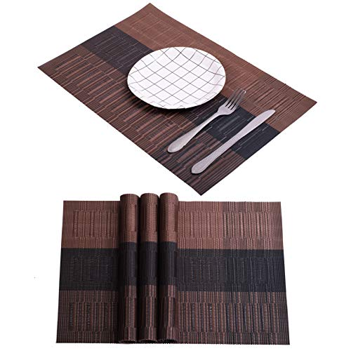 Amazon Com Bamboo Style Spring Gradient Dining Table Mat