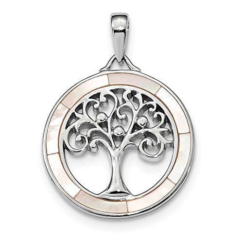 925 Sterling Silver White Mop Tree Of Life Pendant Charm Necklace Outdoor Nature Natural Stone Fine Jewelry Gifts For Women For Her