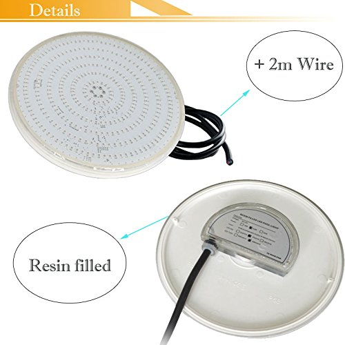 Amazon.com: Cold White, 18W : Resin Fully Injected LED Fountain Par56 Pool Underwater Lights havuz Spa 18W 24W 5W 42W for Pond IP68 12V: Home & Kitchen