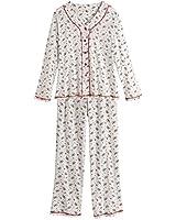 Women's Holly Print Ivory Pajama Set
