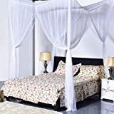 Is There a Bed Bigger Than a King Super Buy Go Plus 4 Corner Post Bed Canopy Mosquito Net, Netting Bedding, Full/Queen/King, White