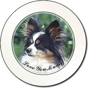 Papillon Dog 'Love You Mum' Impuesto de matriculación disco regalo permisionario