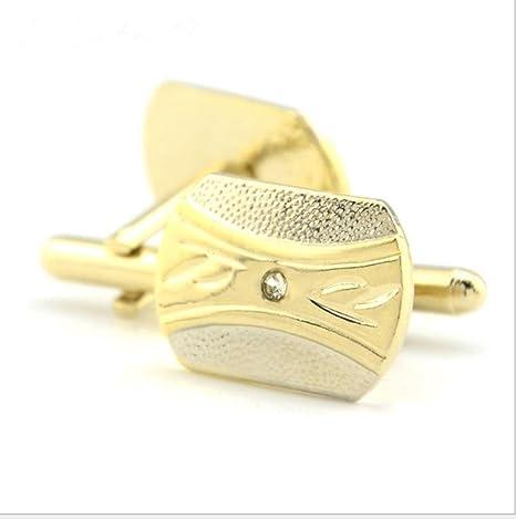 Mancuernas simples de oro de moda puños hombres negocios casual