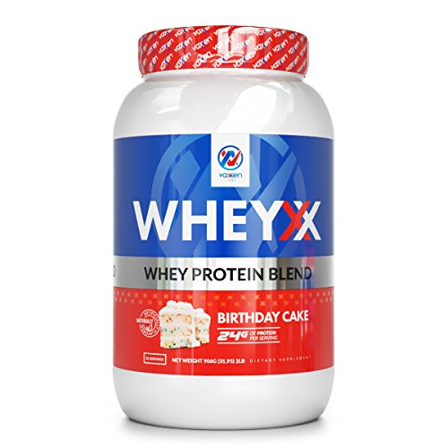 Vaxxen Labs WheyXX Whey Protein Powder Blend Birthday Cake 2LB