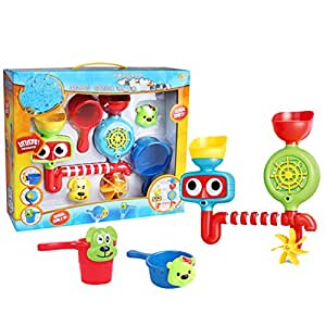FUNCOCO 5 Pcs Baby Bath Toys Swimming Tub Bathtub Turn Toy Set Kid Educational Water Toys Gift