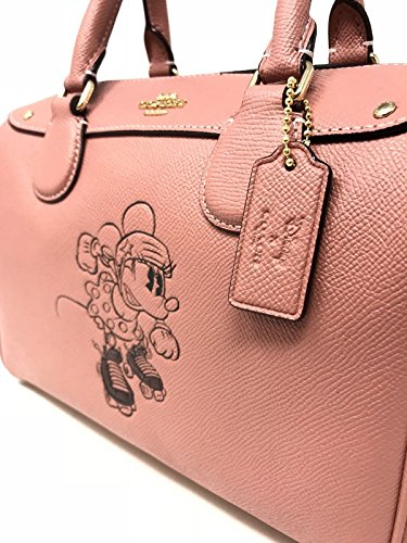 Coach Vintage Black Minnie F29356 Mini Mouse Bag Bennett X Leather Disney Pink rxv8rF