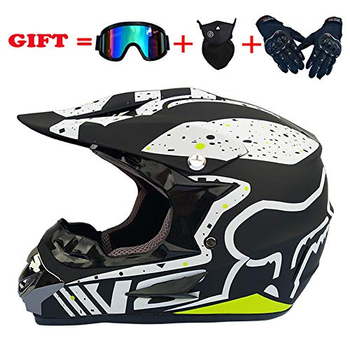 Motocross Helmet 30Colors Adult Full Face ATV/MX/Off-road Motorcycle 4pc set DOT