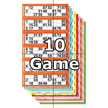 jumbo bingo ticket booklets 6 to view 10 game by clubking ltd