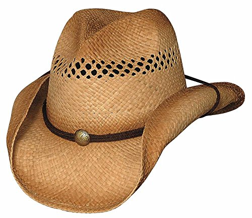 Bullhide Hats Blaze - Raffia Straw Cowboy Hat (Small/Medium), Natural, Small / ()