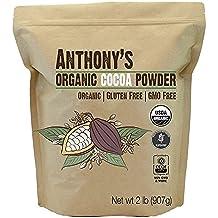Anthony's Organic Raw Cocoa Powder/Cacao Powder, (Non-Alkalized) (2 lb)