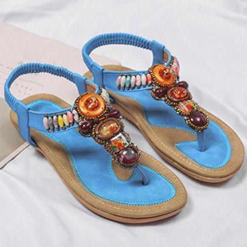 S&H-NEEDRA H, Chaussures de Randonnée Montantes pour Femme Noir Noir M Bleu