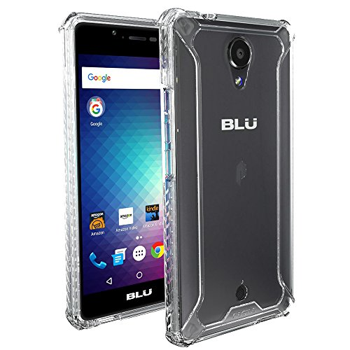 BLU R1 HD Case, POETIC Affinity Series Premium Thin/No Bulk/Slim fit/Clear/Dual Material Protective Bumper Case for BLU R1 HD (2016) Clear/Clear