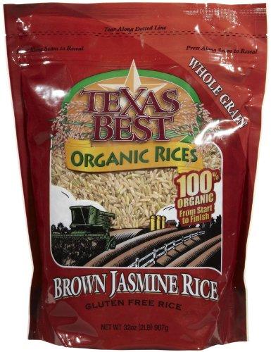 Texas Best Organics Organic Jasmine Brown Rice-32 Oz by Texas Best Organics