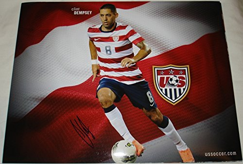 Clint Dempsey Hand Signed / Autographed Team USA Soccer 11 x 14 Photo - 2