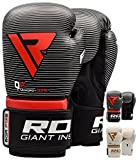 RDX Cosmo Boxing Gloves Muay Thai Training Maya Hide Leather Sparring Punching Bag Mitts Kickboxing Fighting