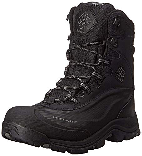 Columbia Men's Bugaboot Plus III Omni-M, Black/Charcoal, 10.5 D US (Work Winter Boots Insulated)