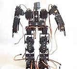 SainSmart 17DOF Biped Black Educational Robot Kit with Servo Bracket Ball Bearing for Hobbyists, Robot Competition, Kids