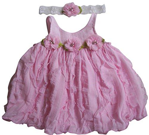Silk Ruffled Yoke Dress - 7