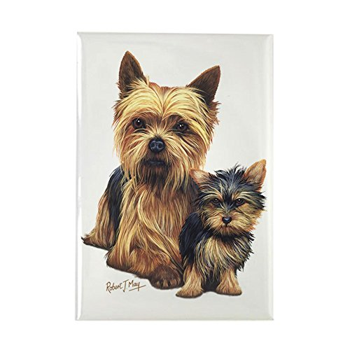 CafePress Yorkie Terrier Pup Rectangle Magnet Rectangle Magnet, 2