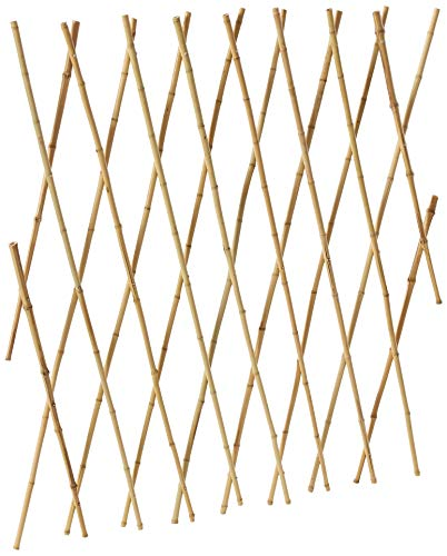 Bosmere Expanding Bamboo Trellis for Vining Plants, 6' x 4' ()