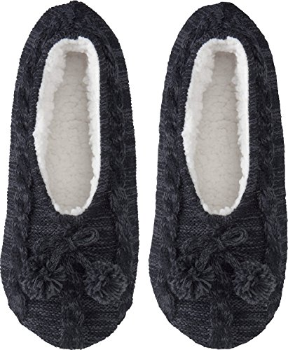 Camano Cuddly Bed Slippers Black 10wsU21PE