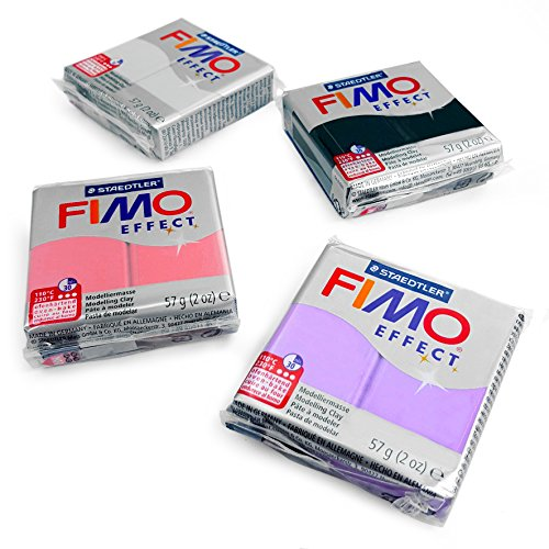 FIMO Effect Polymer Oven Modelling Clay - 4 x 2 oz Clays - Set of 4 - Pearl Finish