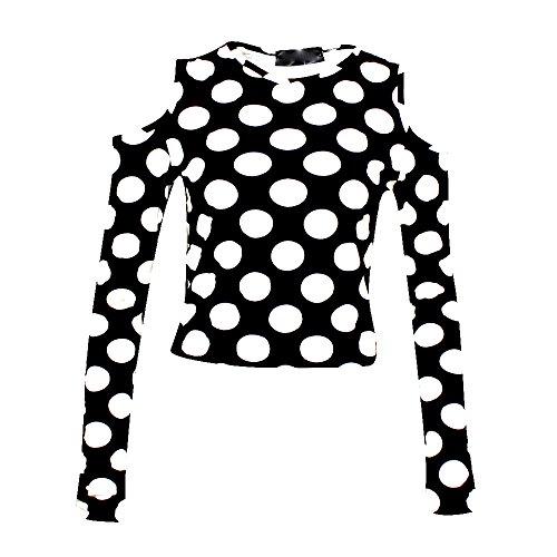 The Home of Fashion - Camiseta de manga larga - Lunares - para mujer