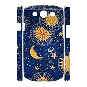 T-TGL(RQ) Samsung Galaxy S3 I9300 3D Custom Phone Case Sun Moon Pattern with Hard Shell Protection