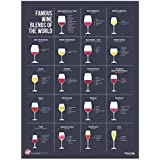 "Wine Folly Famous Wine Blends Poster Print (18"" x 24"")"