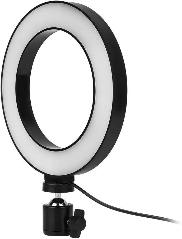 Table Ring Light Lamp Tripod for Photography Studio YouTube Live or Makeup Selfie Light LED Ring Light 5500K with Tripod Diyeeni 16cm Ring Light Set