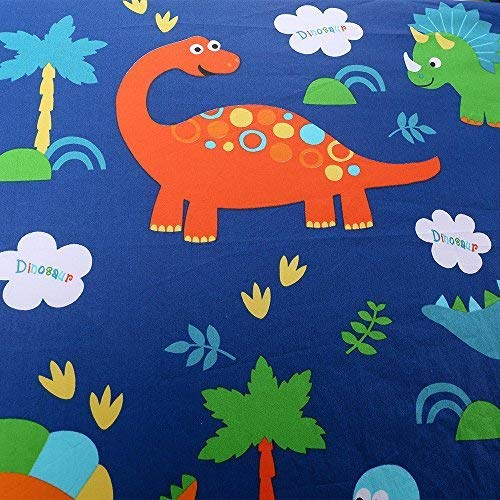 Crib Sheet UOMNY 100% Cotton Fitted Crib Sheet Baby Sheet for Standard Crib and Toddler mattresses Nursery Bedding Sheet Crib Mattress Sheets for Boys and Girls1 Pack Dinosaur Toddler Sheet