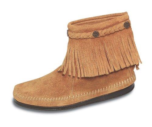Minnetonka Womens 299 Back-zip Boot Tan Suede