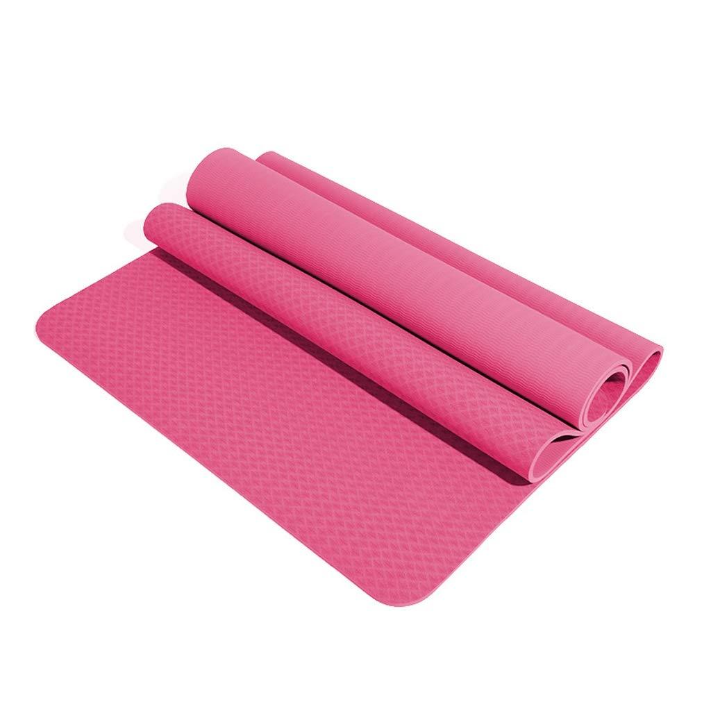 D HBJP Tapis de Yoga TPE Tapis de Yoga épaississement élargissement Long débutant Hommes et Femmes Tapis de Sport Tapis de Fitness Tapis de Yoga antidérapant Tapis de Yoga (Couleur   C, Taille   8mm) 10mm
