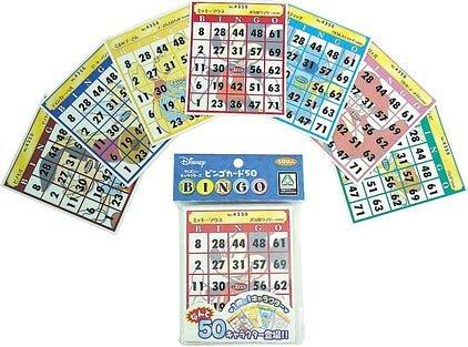 Disney Characters Bingo Card 50 Hanayama
