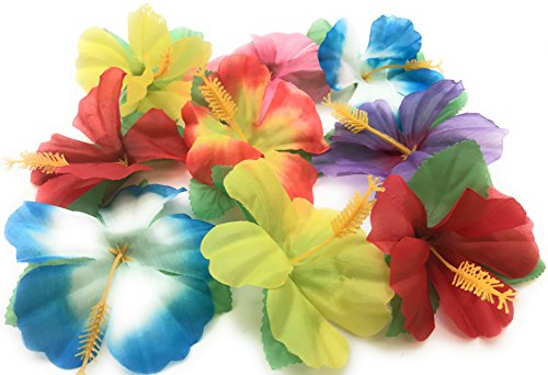 Tropical Flowers Centerpieces - Oojami Hibiscus Flowers for Tabletop Decoration