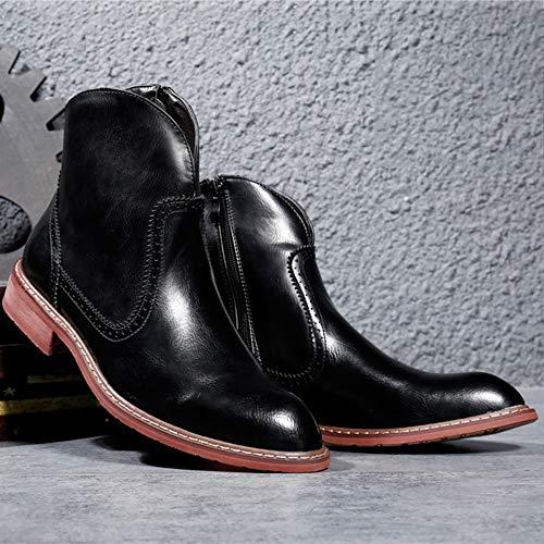 Desert Boots Stivali Stivaletti Tubo Basso Punta Martin Da A Adulti Classica Di Black Militari Arricchiti Pelle qaqrtExS