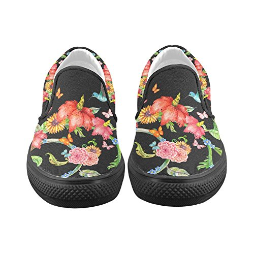Unik Debora Anpassa Mode Kvinna Gymnastikskor Ovanliga Loafers Slip-on Tygskor Multicoloured37