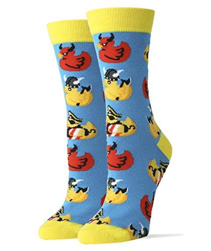 Oooh Yeah Socks ! - Womens Crew - Rub a - Dub Ducky