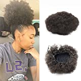 VGTE Beauty Synthetic Curly Hair Ponytail African American Short Afro Kinky Curly Wrap Synthetic Drawstring Puff Ponytail Hair Extensions Wig with Clips (#2) ¡