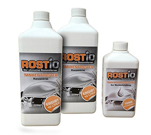 2 Liter Rostio Tankentroster + 500ml Tank-Schutzemulsion Tankversiegelung Set - Tankentrostung leicht gemacht R2109-2