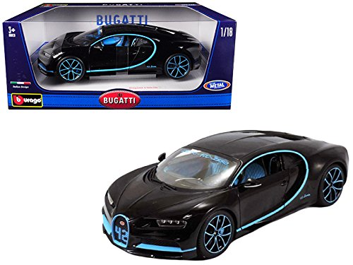Bburago 1:18 Bugatti Chiron 42 Edition Die Cast Vehicle (1 18 Diecast Car Bugatti)