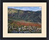 Framed Print of Houses in older section of Park City a Ski Resort covered in Fall Colors, Utah