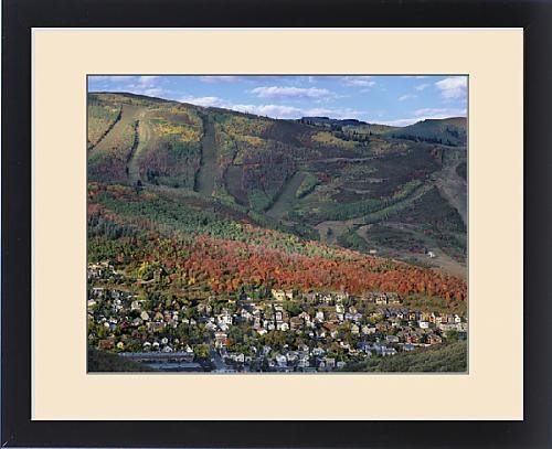 Framed Print of Houses in older section of Park City a Ski Resort covered in Fall Colors, Utah by Fine Art Storehouse