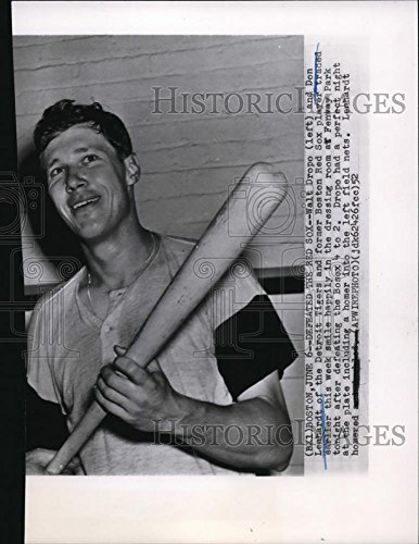1952 Wire Photo Walt Dropo of The Detroit Tigers Defeats The Boston Red Sox